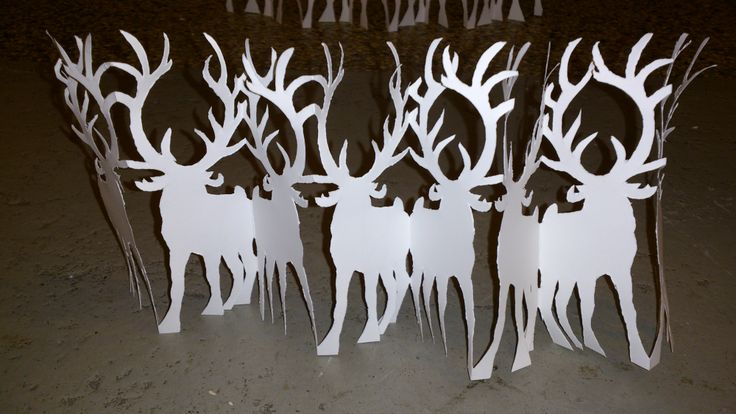 Reindeer papercut for christmas decoration by Naja Abelsen. Sold, similar can be ordered.