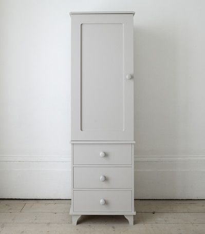 #thedormyhouse   better than a TallBoy because you have hanging storage too. Single wardrobe with 3 drawers - The Dormy House