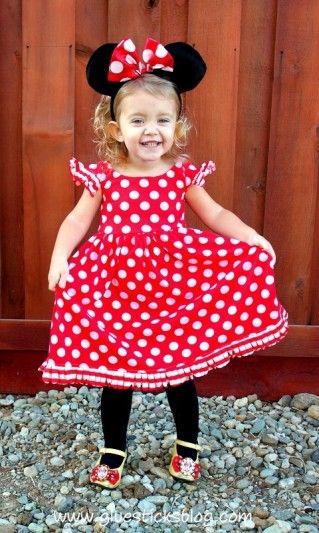 Homemade Minnie Mouse Dress. Doubles for Halloween or everyday.