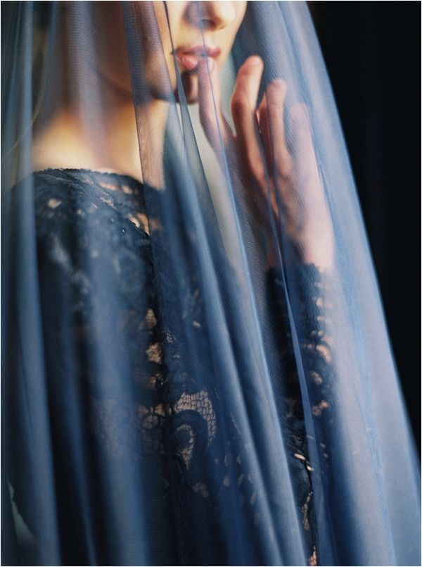 4 navy blue black dramatic cathedral veil