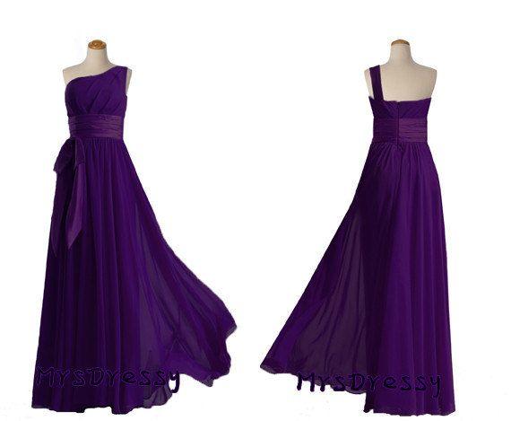 But in green  https://www.etsy.com/listing/167969344/royal-purple-chiffon-single-shoulder
