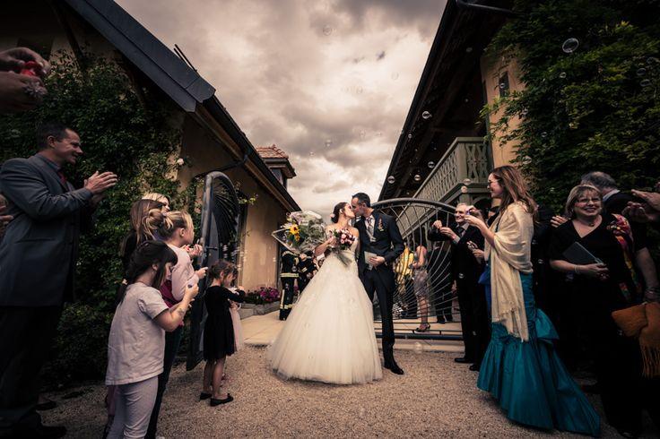 Haie d'honneur pour les mariés