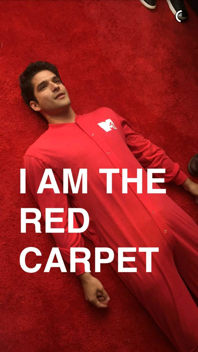 Tyler Posey via MTV Snapchat at the MTV Movie Awards 2016