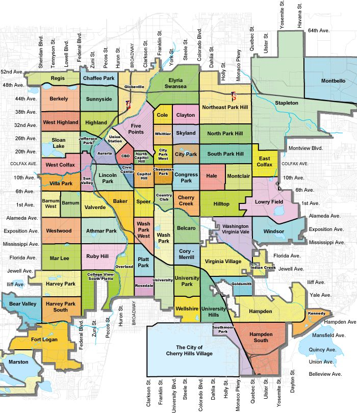 Denver homes for sale, Denver HUD homes, property search for Denver, Denver real estate, Denver foreclosures, Colorado real estate, Colorado homes for sale, Fort Collins Real estate, fort Collins homes for sale, fort Collins HUD homes. - Map Of Denver Neighborhoods