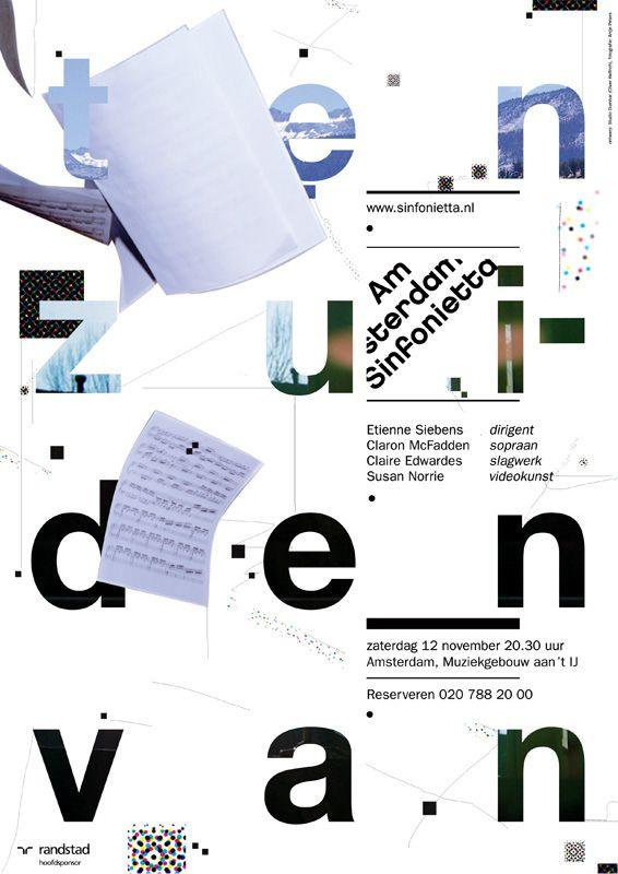 Studio Dumbar, Amsterdam Sinfonietta - poster exhibition in Shanghai - 28-29th…