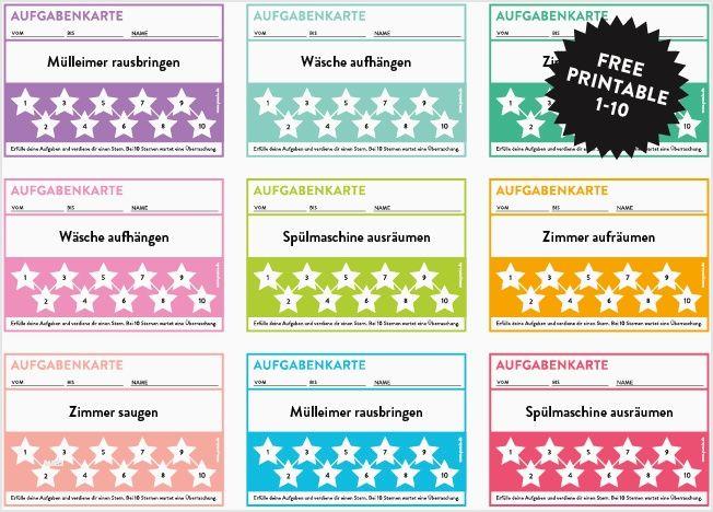 Arbeitsblatt Vorschule Belohnungssystem Kindern Vorlage Aufgabenkarten Belohnungssystem Kinder Regeln Fur Kinder