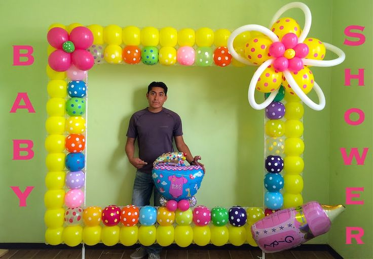 545 best decoracion con globos images on pinterest - Decoracion de marcos para fotos ...