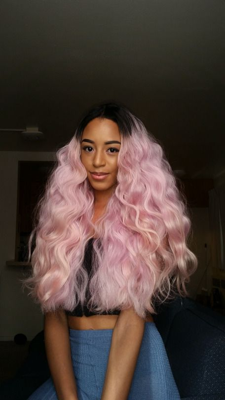 black girl with pink hair, pastel hair, pastel pink, colorful hair, colored hair, black womens, inspiration