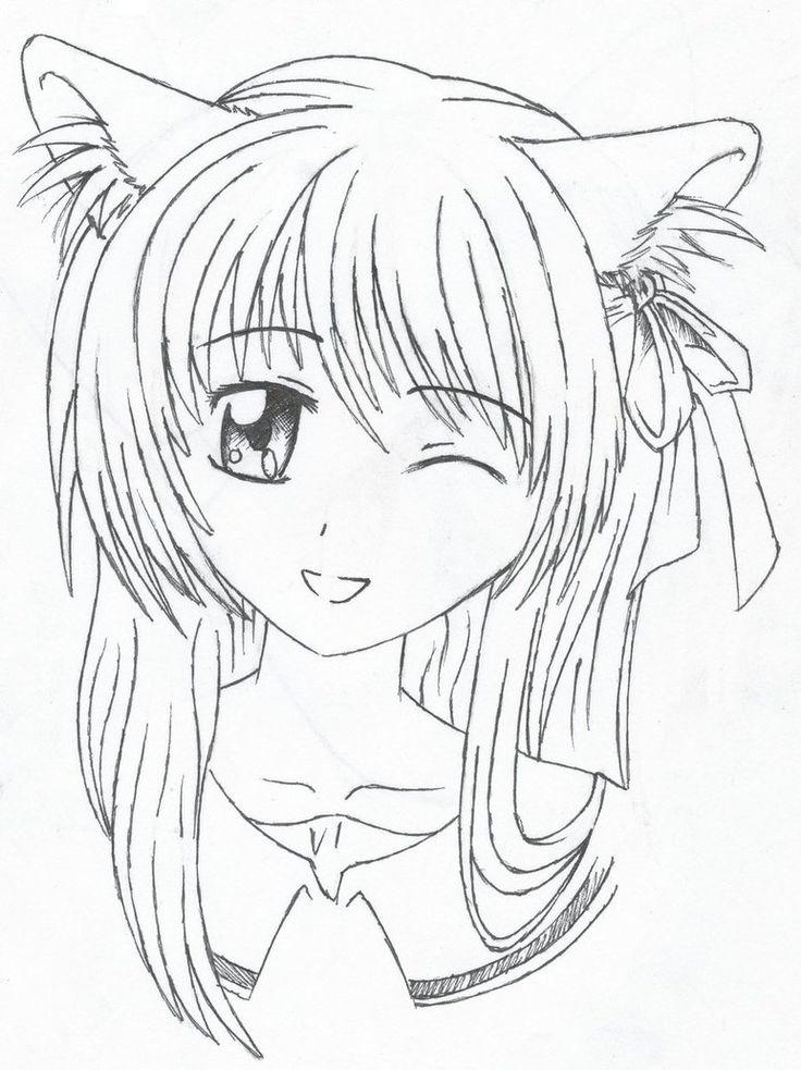 Drawings Easy Wolf Girl Cute