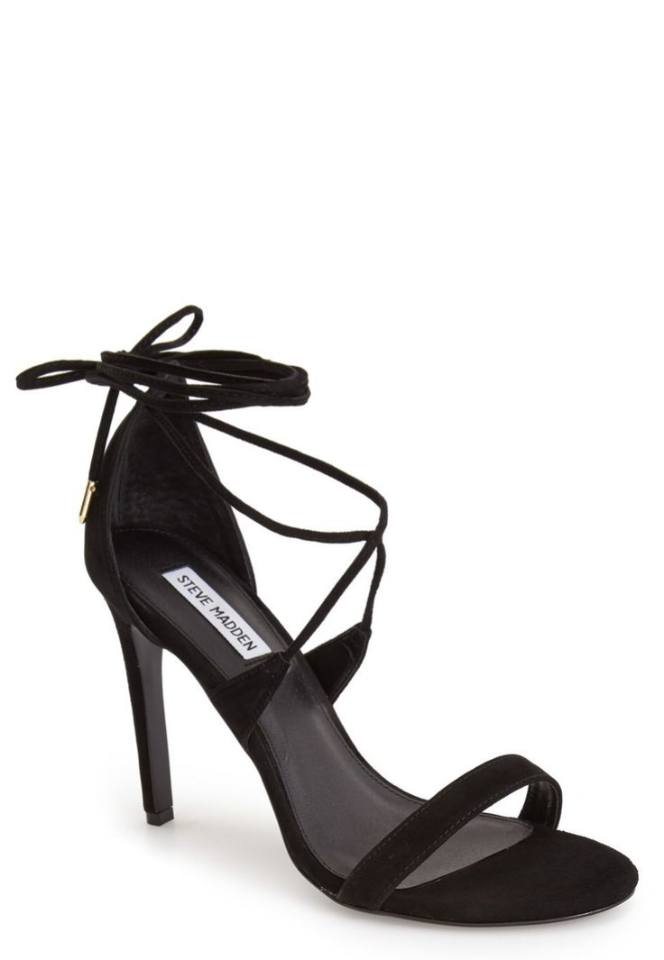 Hitting up the town in these edgy and on-trend lace-up stiletto sandals.