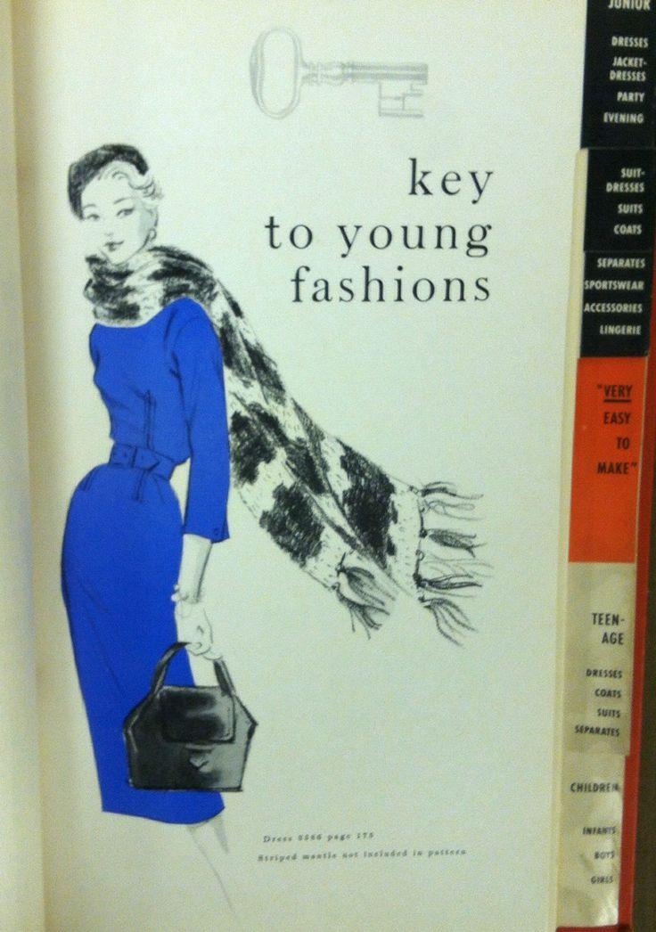 1957 Vogue Patterns catalog page. #voguepatterns #vintagepatterns