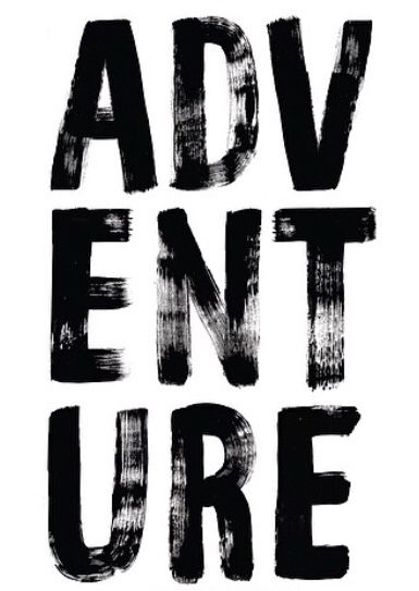 Adventure // by Jasmine Dowling (September 6th, 2015): I know we had to focus on fonts this past week, and I wanted to write an extra post about this poster. I really like contrast when we want to emphasize a word and B&W has never failed to do such a good job. I also like how the letters are placed, giving it some geometrical balance and a sense of order. The whole thing is clean, even though the font is kinda artsy and a little messy.