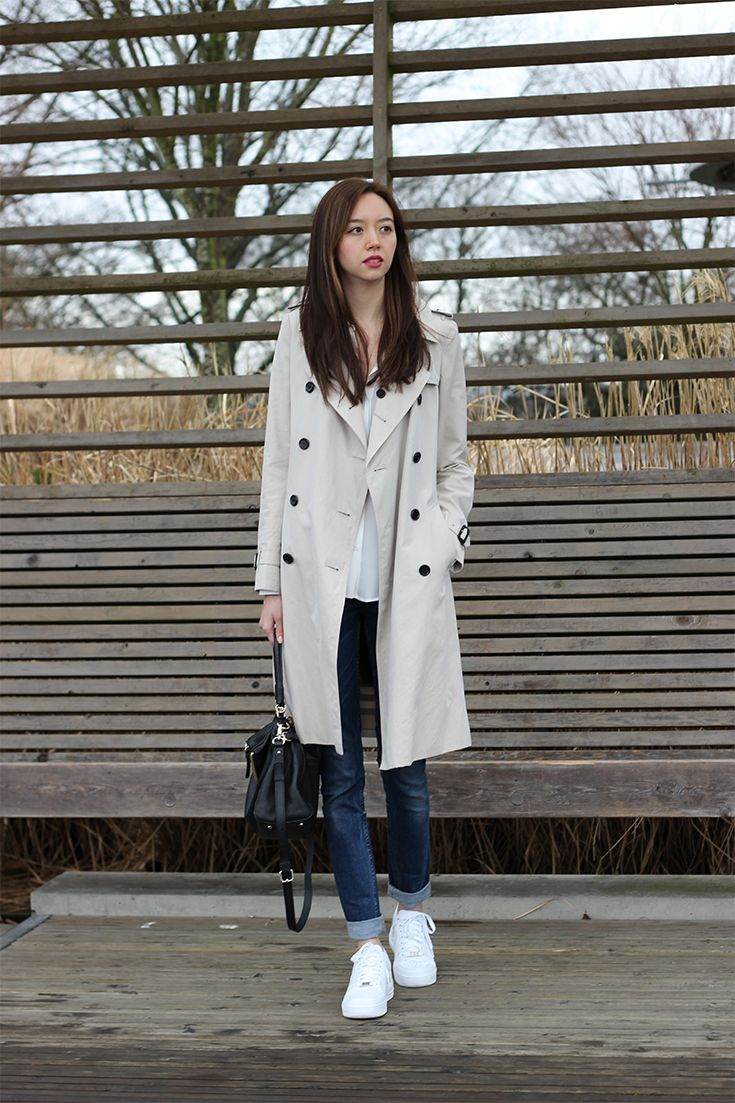 Trench coat and sneakers / emiliechevrier.com