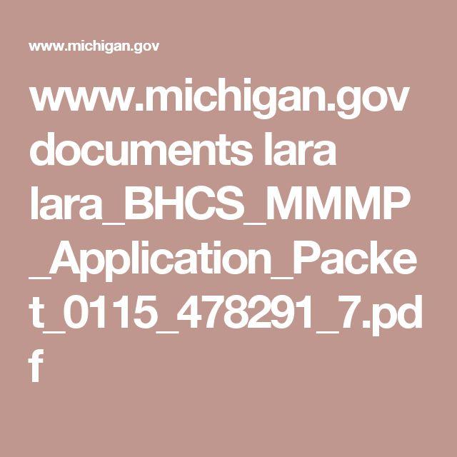 www.michigan.gov documents lara lara_BHCS_MMMP_Application_Packet_0115_478291_7.pdf