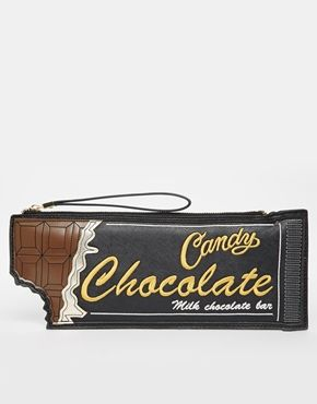 Enlarge New Look Choc Bar Clutch Bag