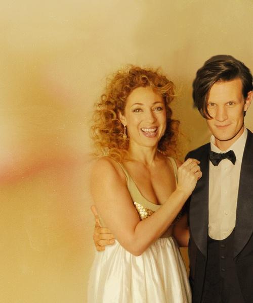 Alex Kingston (River Song) and Matt Smith (Eleven) - Doctor Who -- rehearsal dinner dress :)