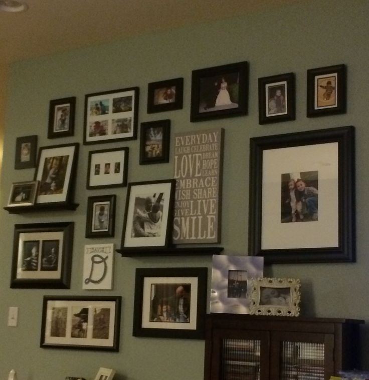 Our family picture wall.
