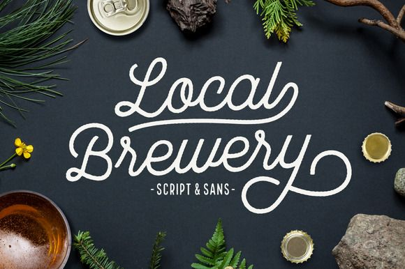 Local Brewery Script + Sans by Cultivated Mind on Creative Market