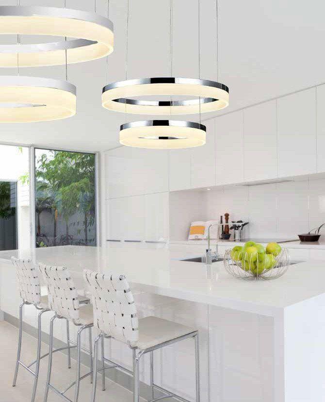 Azzardo Lampa wisząca LED Zola 60/40 - 7105-2PM-6040 : Sklep internetowy Elektromag Lighting #modern #lighting #oświetlenie #homedesign #interiors #kitchen