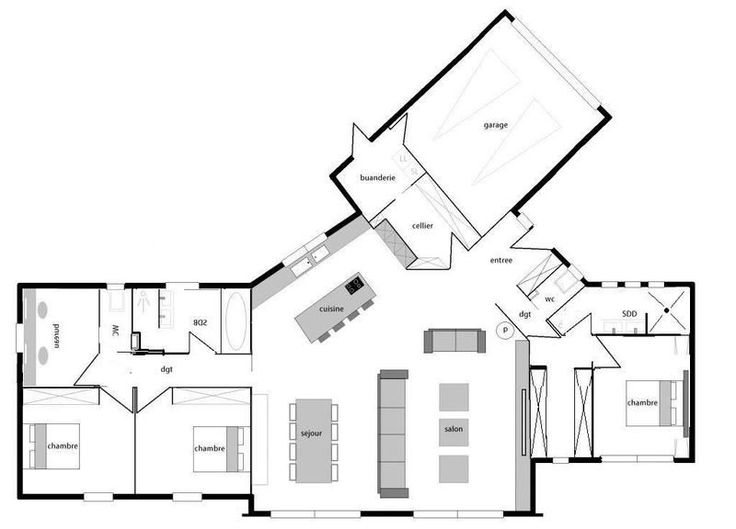 1000 images about plans de maisons on pinterest house for Plan piece a vivre 40m2