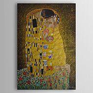 Ζωγραφισμένα στο χέρι Αφηρημένο Διάσημο Άνθρωποι Κάθετο,Κλασσικό Μοντέρνα Παραδοσιακό Μονόπτυχα Hang-ζωγραφισμένα ελαιογραφία For Αρχική
