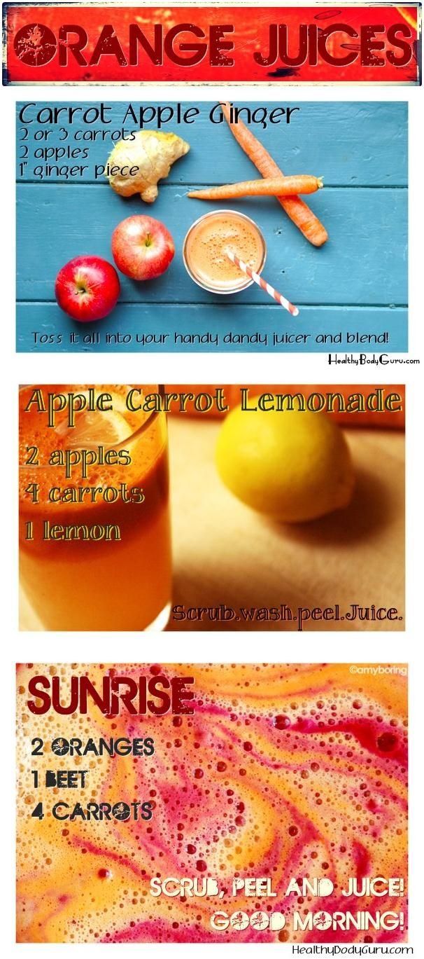 Orange Juices - 3 day juice plan So nice I am pinning it twice. I really like their layout of recipes.