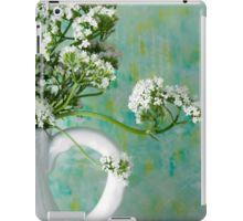 iPad Case/Skin. #valarian #valarianflowers #valarianstilllife #jug #jugart  #valarianart #sandrafoster #sandrafosterredbubble