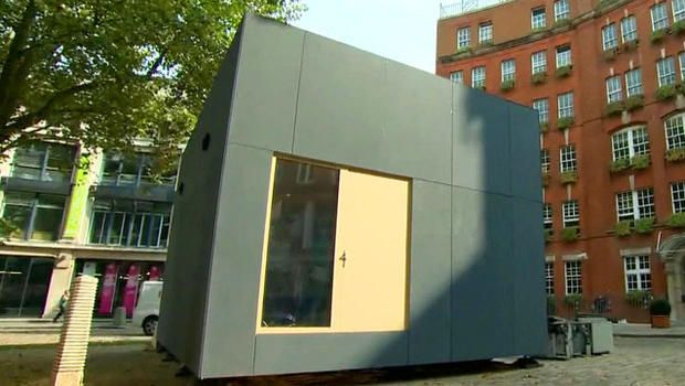Downloadable, 3D-printed house built with staples, screws