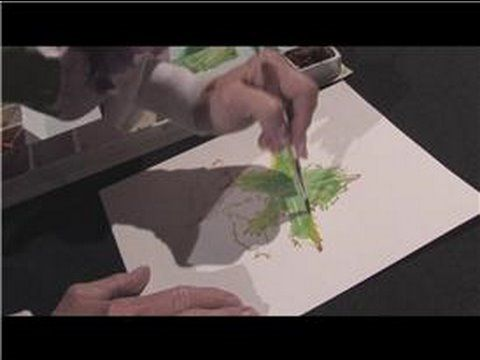 Watercolor Painting : How to Paint Leaves in Watercolor