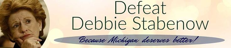 Together we can defeat liberal Democrat Senator Debbie Stabenow once and for all. President Trump carried Michigan in the 2016 elections and now it's time for the GOP to finish the job and win this Senate seat.