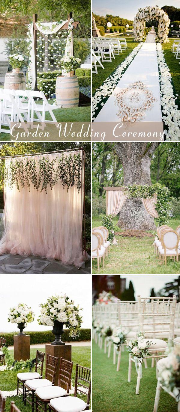 outdoor garden wedding ceremony decorations
