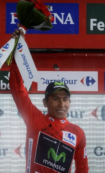 Nairo Quintana (Movistar) leads the Vuelta after stage 9