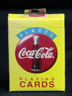 SOLD! Vintage-1994-Always-Coca-Cola-Playing-Cards-Factory-Sealed-New