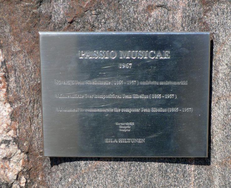 Eila Hiltunen: Passio Musicae, 1967 - Säveltäjä Jean Sibeliukselle (1865-1957) omistettu muistomerkki - Sibeliuksen puisto, Töölö - M Villikka, 2016