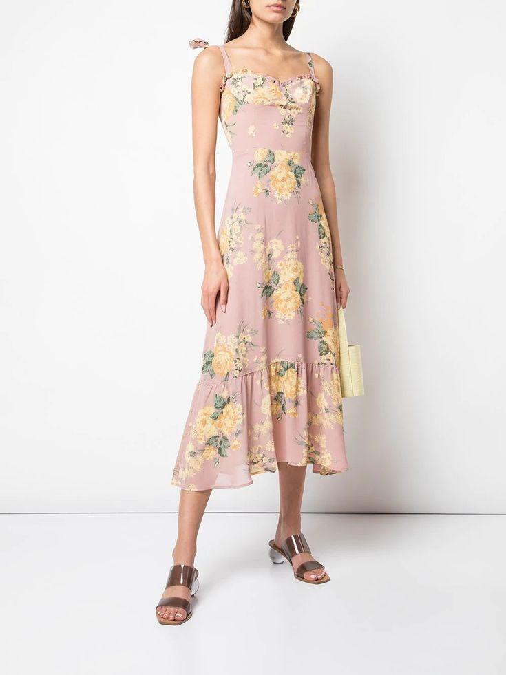 Reformation pink nikita dress spring and summer