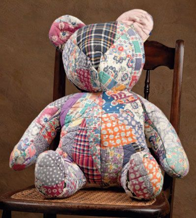 bear pattern stuffed made from quilts | Has writing Link to the '30s and Fancy to Frugal increased your ...