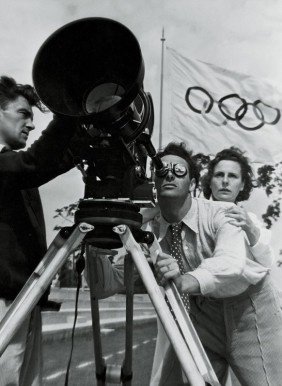 Revolutionary recording technique: Leni Riefenstahl filmed at the Olympic Games in Berlin