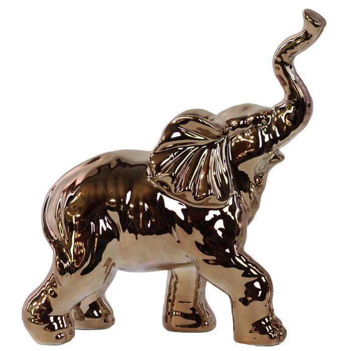 Trumpeting Elephant Statuette