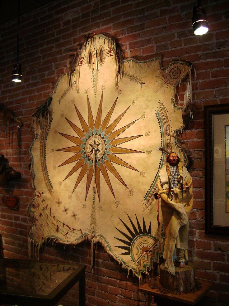 GOOD MEDICINE shaman's rode painted on elk hide. www.lauramountain.com