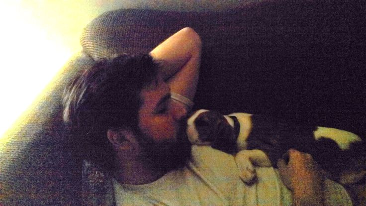Hunter always loved to sleep with me on the couch! Now he prefers to sleep with my daughter! Traded!