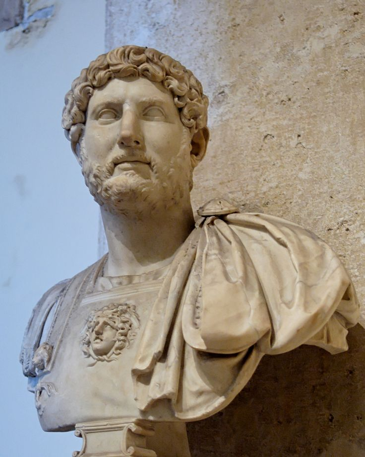 Hadrian (Latin: Publius Aelius Hadrianus Augustus, 24 January, 76 AD – 10 July, 138 AD) was Roman Emperor from 117 to 138. He re-built the Pantheon and constructed the Temple of Venus and Roma. He is also known for building Hadrian's Wall, which marked the northern limit of Roman Britain. Hadrian was regarded by some as a humanist and was philhellene in most of his tastes. He is regarded as one of the Five Good Emperors.