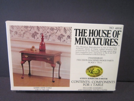 Dollhouse Furniture Queen Anne Table By PriorMemories On Etsy, $11.50