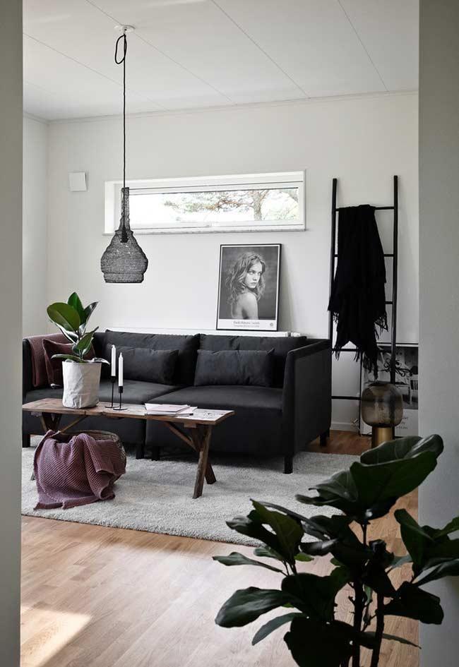 Schwarzes Sofa 50 Modelle Mit Fotos Und Wie Dekorieren