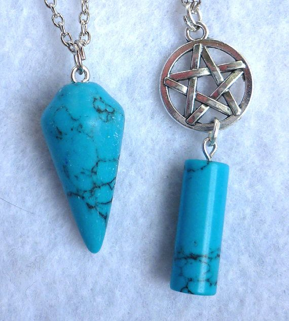 Double Pendulum and Pentacle Wicca Necklace  by FrogsandPrinces
