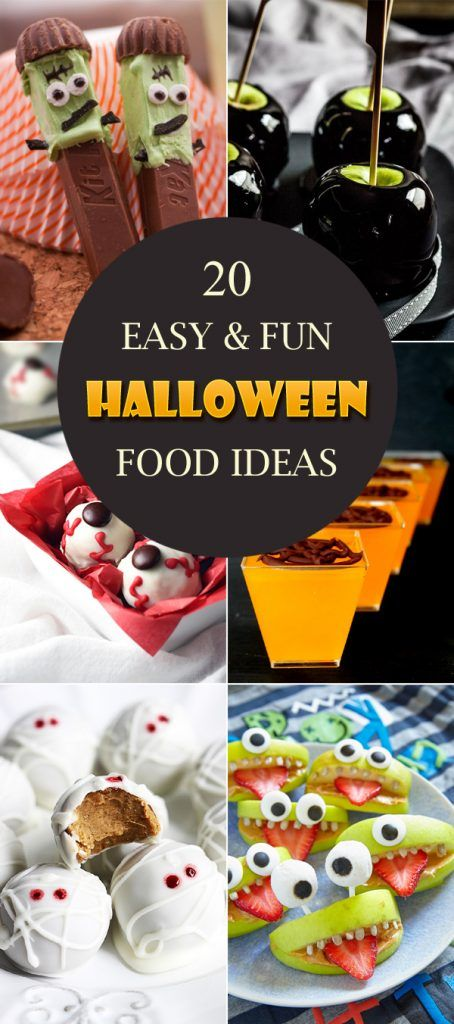20 Easy & Fun Halloween Food Ideas
