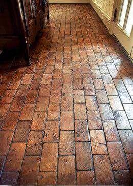 2x4 ends instead of brick floors!