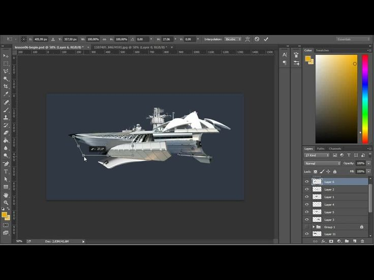 Photobashing an Interstellar Space Craft in Photoshop