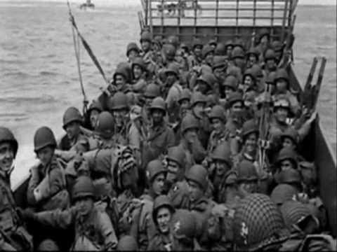 Omaha Beach, June 6 1944, men of the 1st Infantry, 29th Infantry and Rangers land on the Normandy coast as part of Operation Overlord.