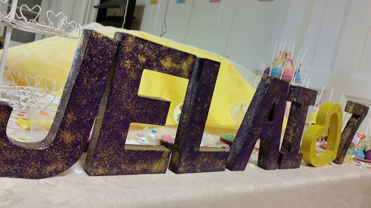 painted letter carton