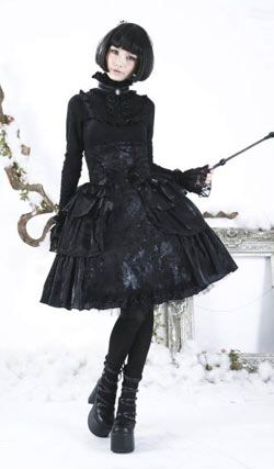 Gothic Lolita Skirt via Rivithead.com. Too cute!